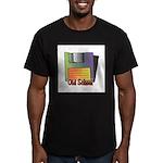 Old School Floppy Disk Men's Fitted T-Shirt (dark)