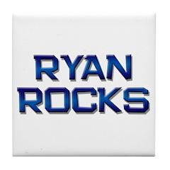ryan rocks Tile Coaster