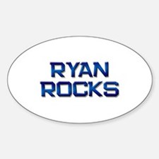 ryan rocks Oval Bumper Stickers