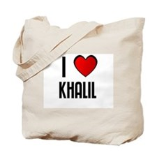 I LOVE KHALIL Tote Bag