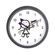 Girl & Mardi Gras Wall Clock