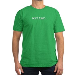 writer. Men's Fitted T-Shirt (dark)