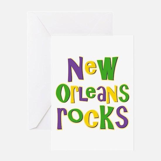 New Orleans Rocks Greeting Card