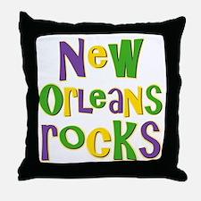 New Orleans Rocks Throw Pillow