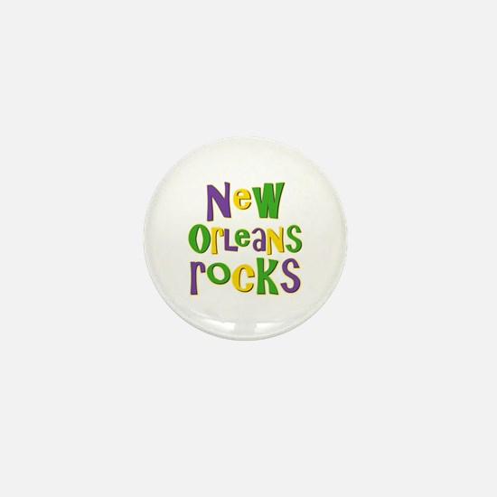 New Orleans Rocks Mini Button