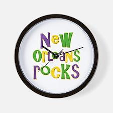 New Orleans Rocks Wall Clock