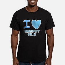 Blue I Heart (Love) Breast Mi T