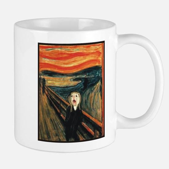Ferret Scream Munch Mug