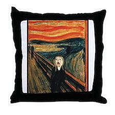 Ferret Scream Munch Throw Pillow