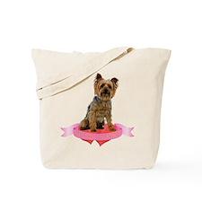 Silky Terrier Valentine Tote Bag