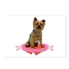 Silky Terrier Valentine Postcards (Package of 8)