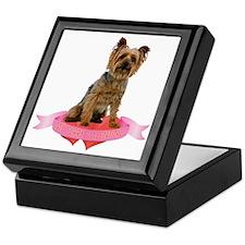 Silky Terrier Valentine Keepsake Box