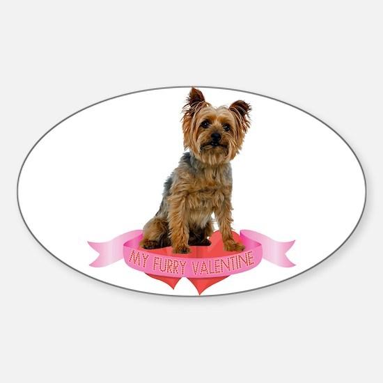 Silky Terrier Valentine Sticker (Oval)