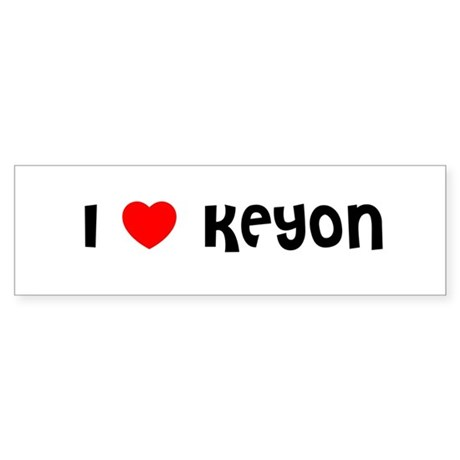 I LOVE KEYON Bumper Sticker