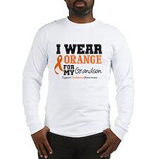 Leukemia Grandson Long Sleeve T-Shirt