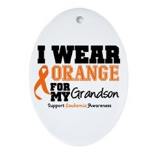 Leukemia Grandson Oval Ornament