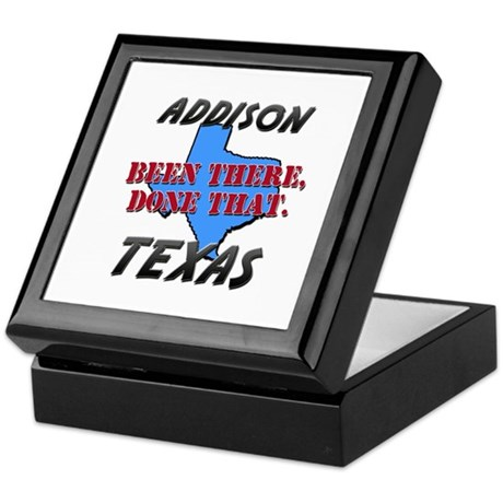 addison texas - been there, done that Keepsake Box