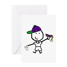 Boy & Mardi Gras Greeting Card