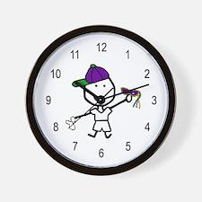 Boy & Mardi Gras Wall Clock