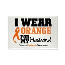 Leukemia Husband Rectangle Magnet (10 pack)