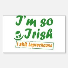 St Patrick's day design Rectangle Decal