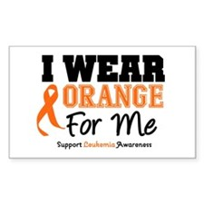I Wear Orange For Me Rectangle Decal
