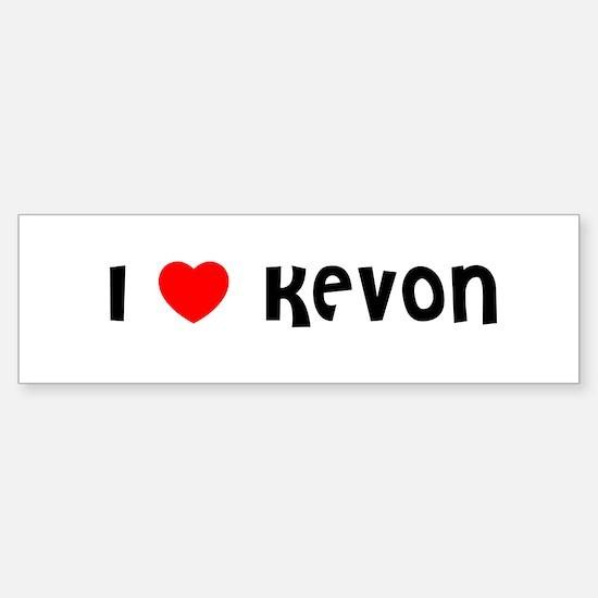 I LOVE KEVON Bumper Car Car Sticker