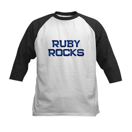 ruby rocks Kids Baseball Jersey
