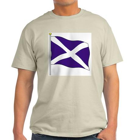 Scotland Flagpole Ash Grey T-Shirt