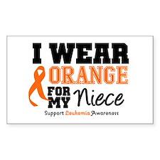 Leukemia Niece Rectangle Decal