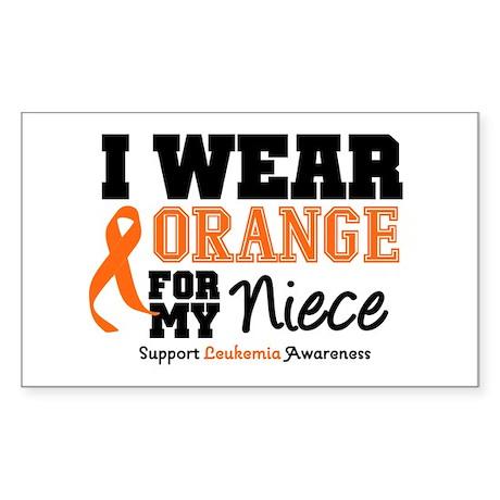 Leukemia Niece Rectangle Sticker