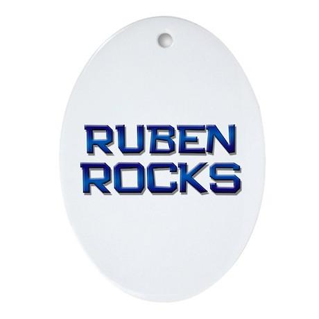 ruben rocks Oval Ornament