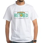 Florida Retired Vanity Plate White T-Shirt
