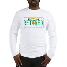 Florida Retired Vanity Plate Long Sleeve T-Shirt