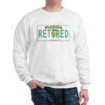 Florida Retired Vanity Plate Sweatshirt