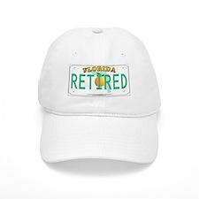 Florida Retired Vanity Plate Baseball Baseball Cap