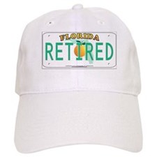Florida Retired Vanity Plate Baseball Cap