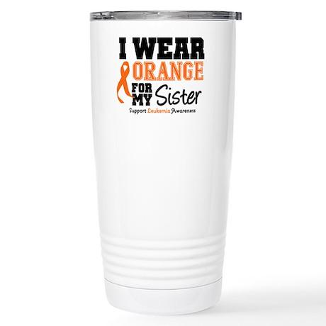 Leukemia Sister Stainless Steel Travel Mug