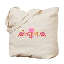 Sweet 16 Heart Flower Tote Bag