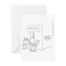 Cute Toilet Greeting Card