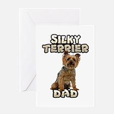 Silky Terrier Dad Greeting Card