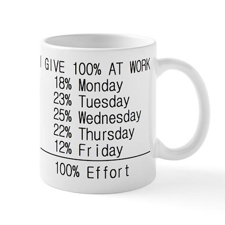 100% effort Mug