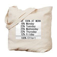 100% effort Tote Bag