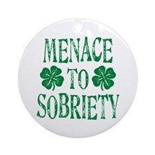 Menace to Society Ornament (Round)
