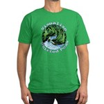 Visualize Whirled Peas Men's Fitted T-Shirt (dark)