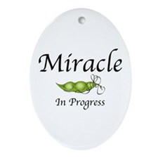 Miracle In Progress Oval Ornament