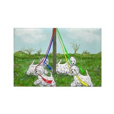 Maypole Westies Rectangle Magnet