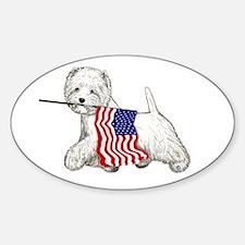 Patriotic Westie Decal