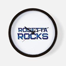 rosetta rocks Wall Clock