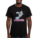 Let's Bounce Bunny Rabbit Men's Fitted T-Shirt (da